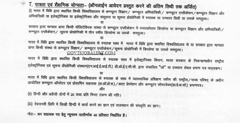 Rajasthan Tax Assistant Recruitment 2018